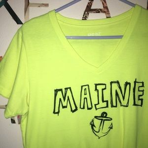 Neon Maine v-neck tee